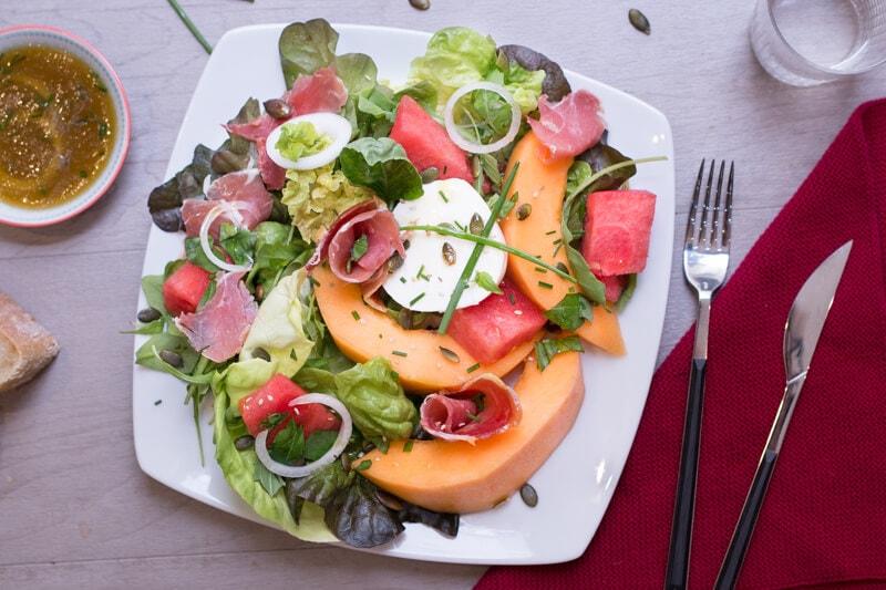 Salade Melon Mozza