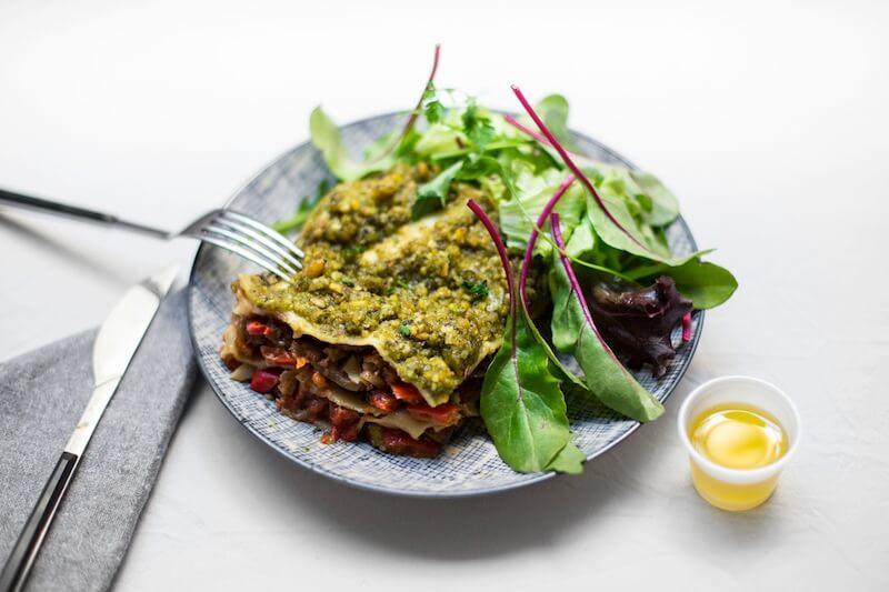 Lasagnes légumes pesto