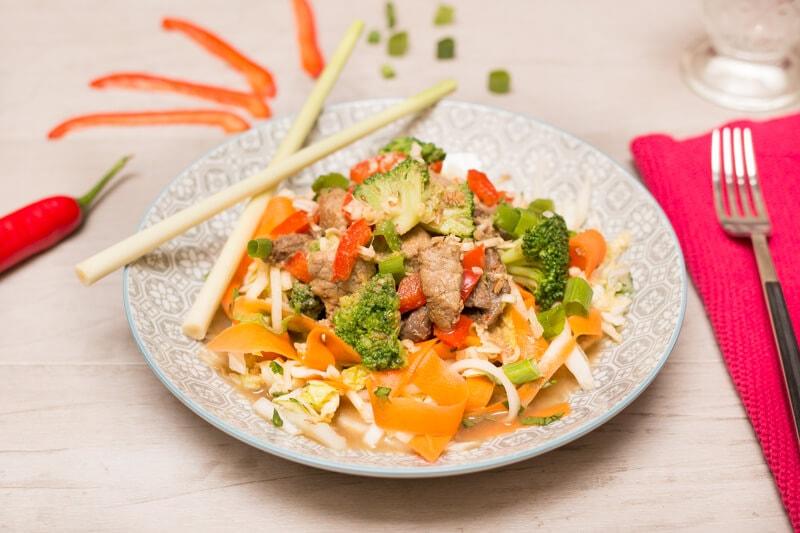 Salade choux chinois boeuf mariné