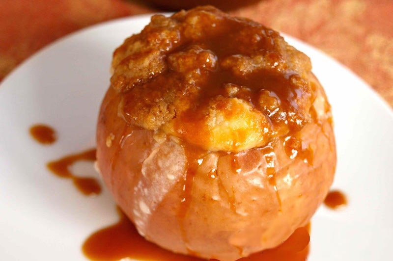 Pommes rôtis frangipane et caramel