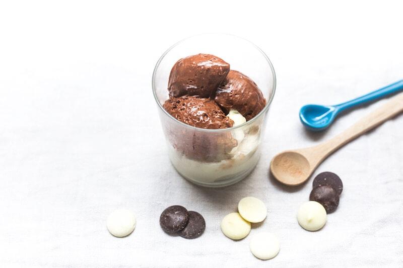 Duo mousse chocolat blanc choc noir