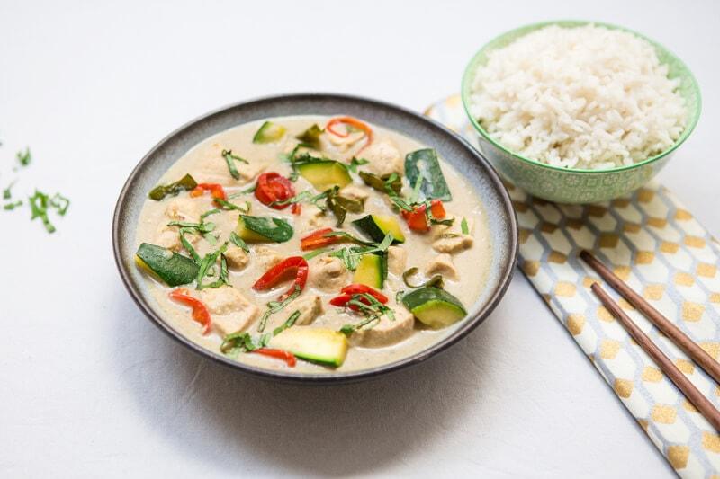 Poulet Curry Vert riz