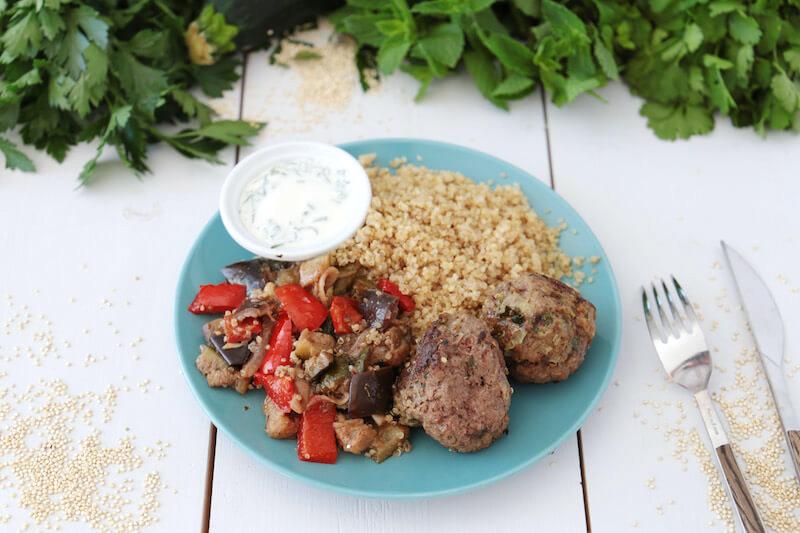 Kefta boeuf quinoa légumes