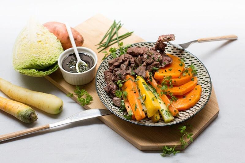 boeuf salsa verde carottes