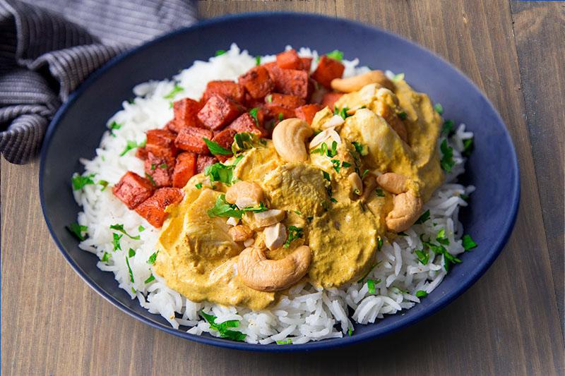 Butter chicken carottes tandoori
