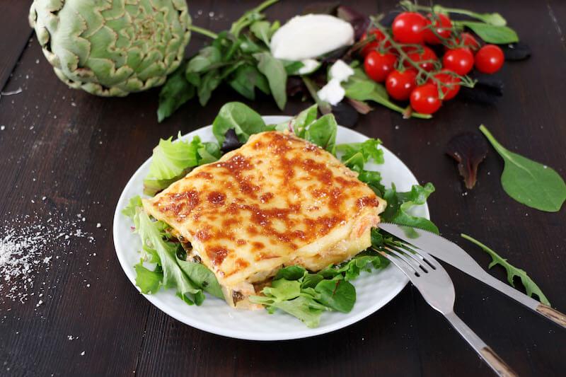 Lasagnes artichaut mozzarella