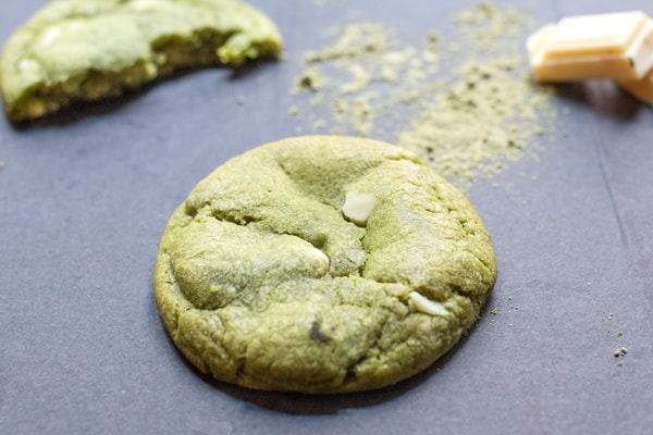 Cookie bio matcha blanc