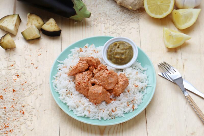 Poulet tandoori riz basmati