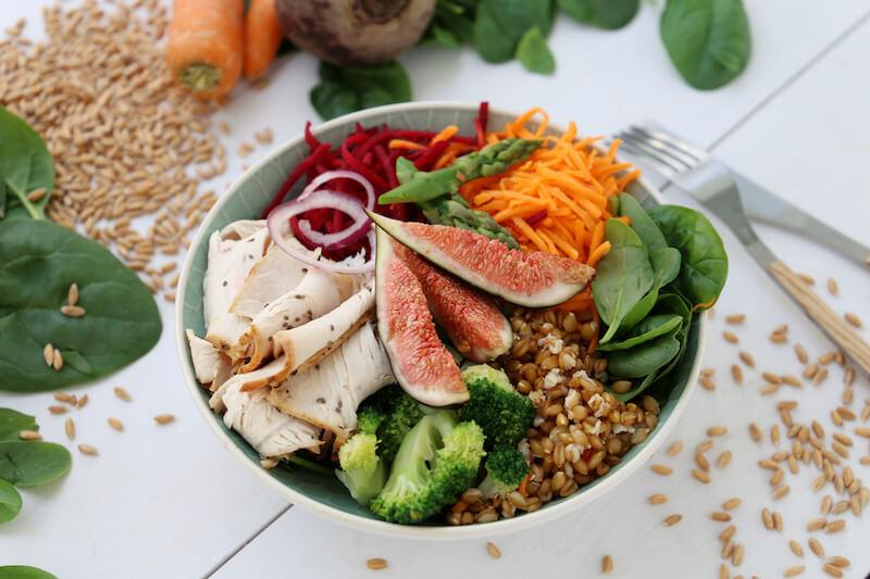 Salade super healthy épeautre bio