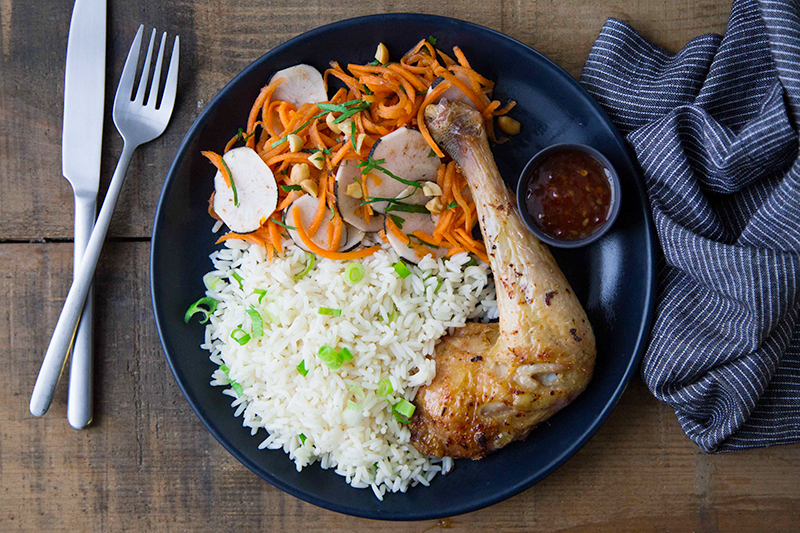 Poulet grillé thaï et riz basmati