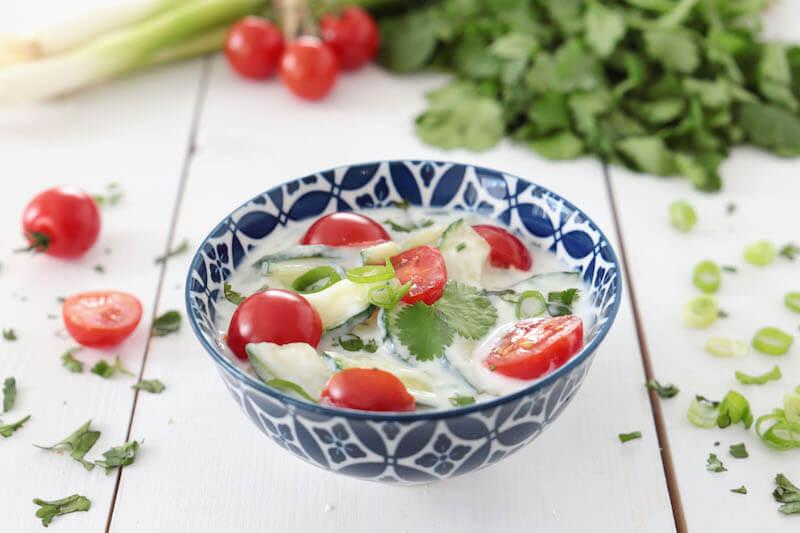 Raita concombre tomate