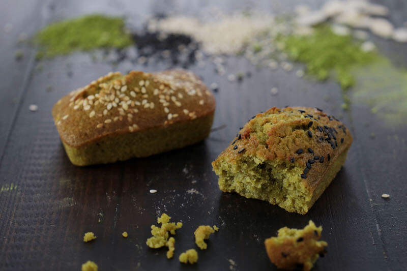 Financiers au matcha